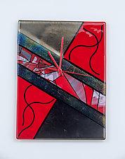 Modern Art Glass Clock by Varda Avnisan (Art Glass Clock)