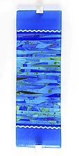 Composition in Blue Art Glass Wall Sculpture by Varda Avnisan (Art Glass Wall Sculpture)