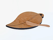 Leaf Cutting Board and Spreader by Jonathan Simons (Wood Cutting Board)