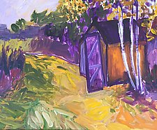 Taking a Walk by the Barn by Leonard Moskowitz (Acrylic Painting)