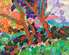 Ecstatic Afternoon Forest by Leonard Moskowitz (Acrylic & Oil Painting)
