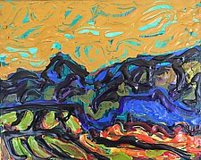 Cornfields in the Abstract by Leonard Moskowitz (Acrylic Painting)