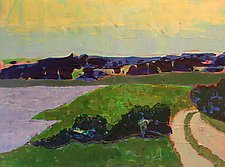 Beach Road II by Leonard Moskowitz (Acrylic Painting)