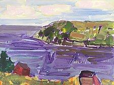 Harbor Off of Monhegan Island by Leonard Moskowitz (Acrylic Painting)