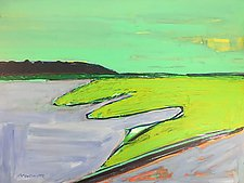 The Bay and the Sea by Leonard Moskowitz (Acrylic Painting)