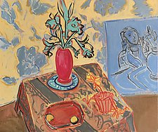 Studio Setting Still Life by Leonard Moskowitz (Oil Painting)
