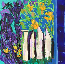 Garden Gate by Leonard Moskowitz (Oil Painting)