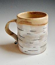Birch Motif Mug VIII by Lenore Lampi (Ceramic Mug)