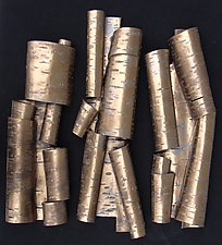 Scrolls in Bronze Trio by Lenore Lampi (Ceramic Wall Sculpture)