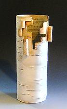 Furled Vase by Lenore Lampi (Ceramic Vase)
