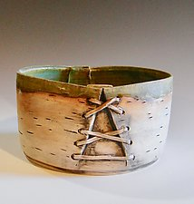 Homage with Lacing by Lenore Lampi (Ceramic Vessel)