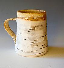 Birch Motif Mug I by Lenore Lampi (Ceramic Mug)