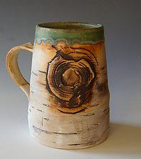 Birch Motif Mug III by Lenore Lampi (Ceramic Mug)