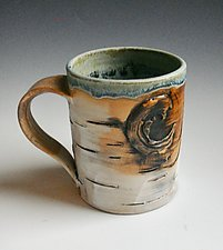 Birch Motif Mug X by Lenore Lampi (Ceramic Mug)