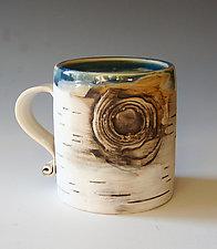 Birch Motif Mug V by Lenore Lampi (Ceramic Mug)