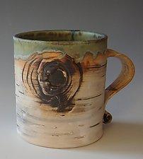 Birch Motif Mug II by Lenore Lampi (Ceramic Mug)