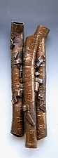 Birch in High Relief in Bronze by Lenore Lampi (Ceramic Wall Sculpture)