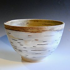Birch Motif Bowl by Lenore Lampi (Ceramic Bowl)