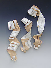 Lyricism in Blush by Lenore Lampi (Ceramic Wall Sculpture)
