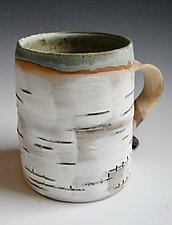 Birch Motif Mug XI by Lenore Lampi (Ceramic Mug)