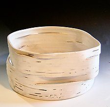White on White 7 by Lenore Lampi (Ceramic Vessel)