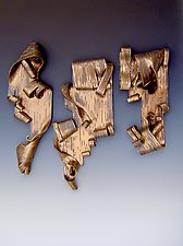 Lyricism in Bronze Trio II by Lenore Lampi (Ceramic Wall Sculpture)