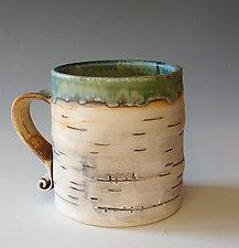 Birch Motif Mug IV by Lenore Lampi (Ceramic Mug)