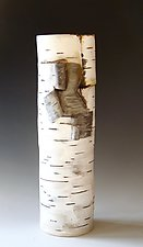 Traditional Birch-Motif Vase by Lenore Lampi (Ceramic Vase)