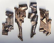 Lyricism Quartet by Lenore Lampi (Ceramic Wall Sculpture)