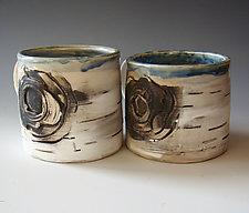 Birch Motif Mug Set by Lenore Lampi (Ceramic Mug)