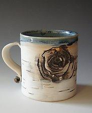 Birch Motif Mug IX by Lenore Lampi (Ceramic Mug)