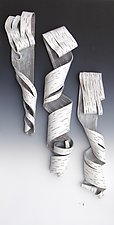 Lyrical Trio by Lenore Lampi (Ceramic Wall Sculpture)