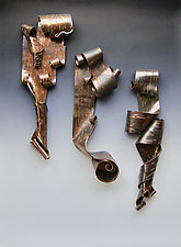 Lyricism in Bronze Trio by Lenore Lampi (Ceramic Wall Sculpture)