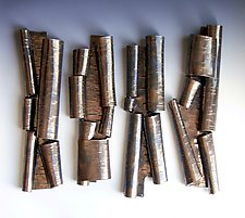 Scrolls in Bronze Set by Lenore Lampi (Ceramic Wall Sculpture)