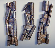 Scrolls with Negative Space by Lenore Lampi (Ceramic Wall Sculpture)