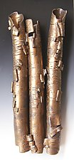 Bronze Birch in High Relief by Lenore Lampi (Ceramic Wall Sculpture)