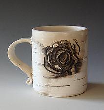 Birch Motif Mug VII by Lenore Lampi (Ceramic Mug)