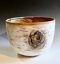 Big Birch Bowl by Lenore Lampi (Ceramic Bowl)