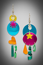 Sunny Hawaiian Breeze Earrings by Sylvi Harwin (Aluminum Earrings)