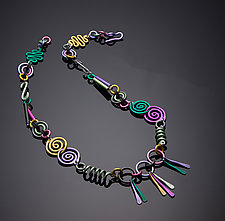 Swirls Necklace by Sylvi Harwin (Aluminum Necklace)