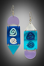 Blues Swing Earrings by Sylvi Harwin (Aluminum Earrings)