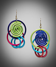 Loopy Hoops Earrings by Sylvi Harwin (Aluminum Earrings)