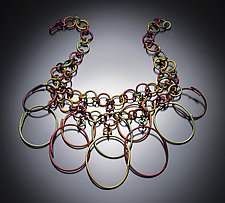 Saharan Ovals Necklace by Sylvi Harwin (Aluminum Necklace)