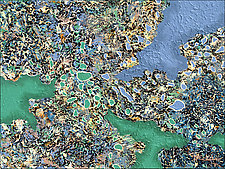 Liquid BlueGreen by Nancy Eckels (Acrylic Painting)