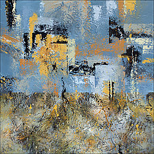 Desert City Mirage by Nancy Eckels (Acrylic Painting)