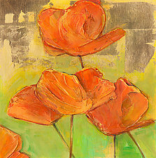 Brilliant California Poppies by Denise Souza Finney (Giclee Print)