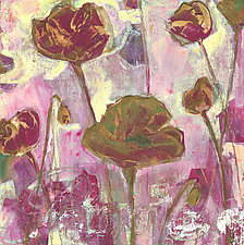 Dreams of Purple Poppies by Denise Souza Finney (Acrylic Painting)