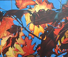 Autumn Leaves by Barbara Buer (Oil Painting)