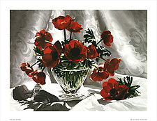 Red Anemonies by Barbara Buer (Giclee Print)