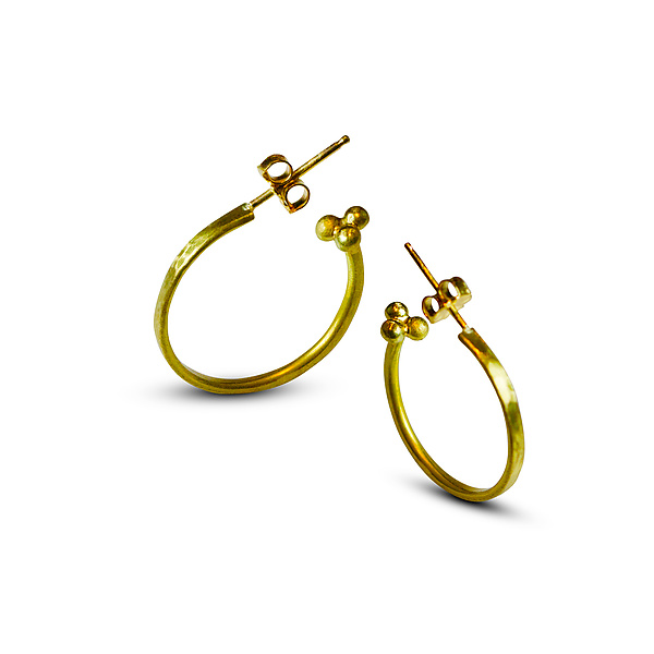 Hammered Roman Hoop Earrings